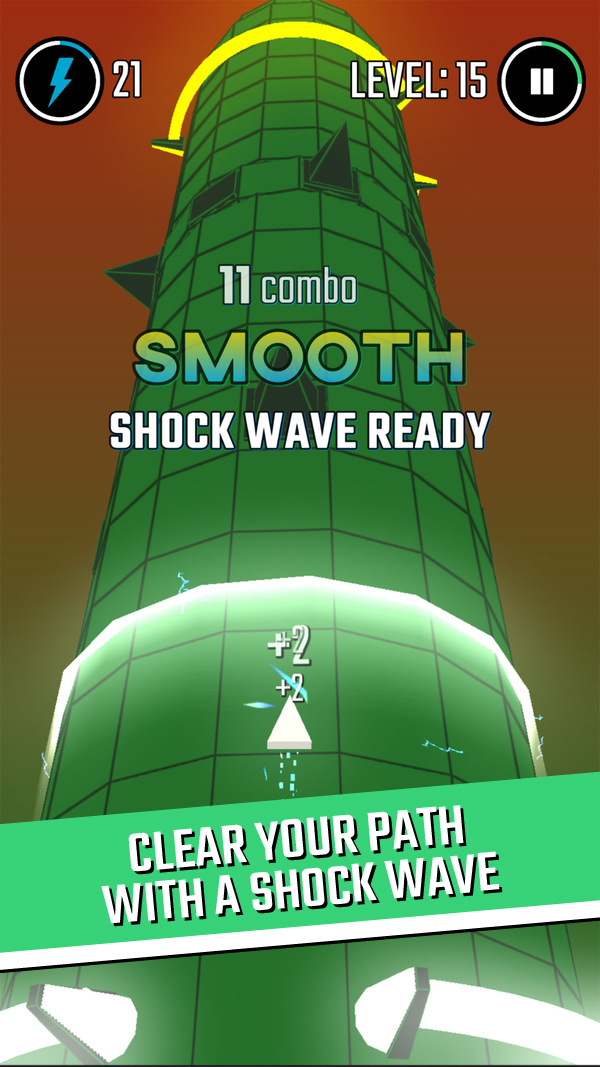 Clear your path with a shock wave